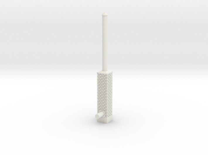 Building Side Brick Exhaust Stack HO Scale 3d printed
