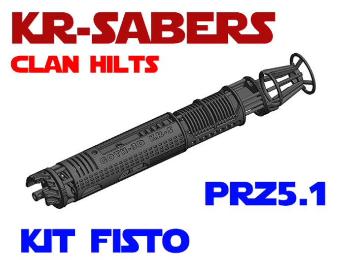 KR-S Clan Hilts - Kit Fisto - Prizm5.1 Chassis 3d printed