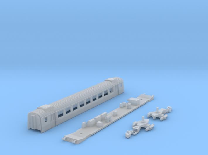 Einheitswagen III - 2. Klasse mit Klimaaufbauten 3d printed
