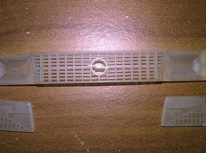 1/24 Front Grill Opel Kadett D 3d printed without additional headlights