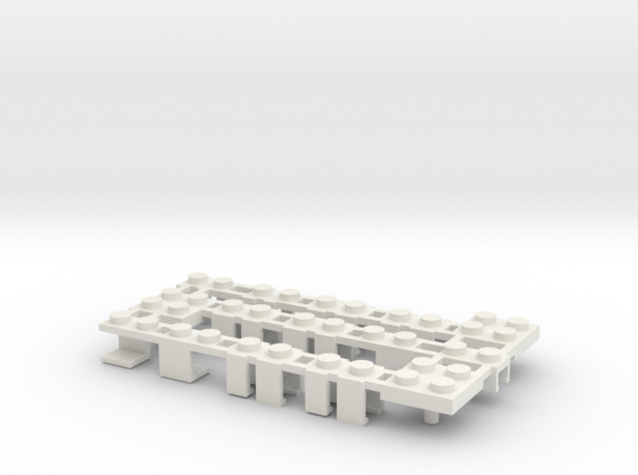Building Block Interface for Action Figures ABC 3d printed