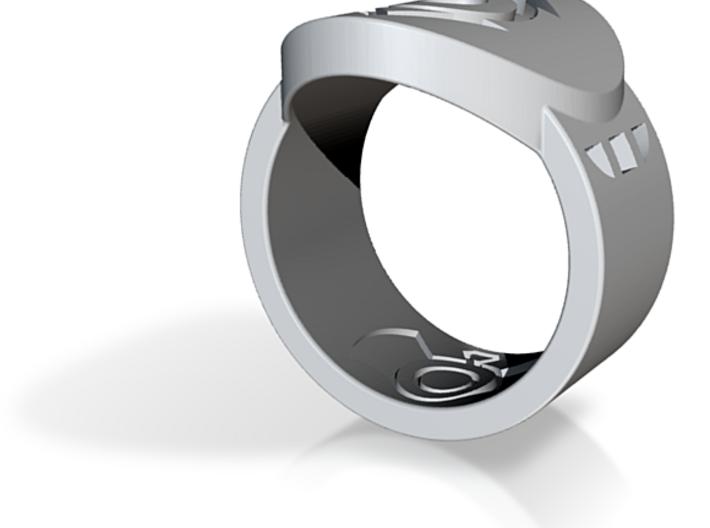 Indigo Tribe FF Ring Sz 9 3d printed Custom Enameled