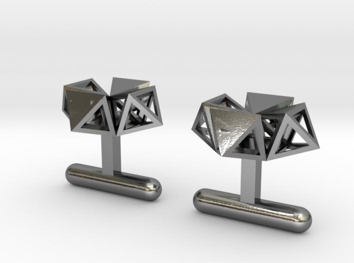 Cufflinks Under Construction 3d printed