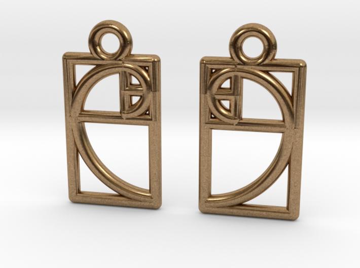 Golden Ratio Earrings 3d printed