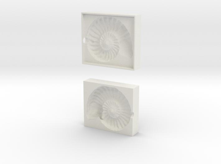 Ammonite Mold 3d printed