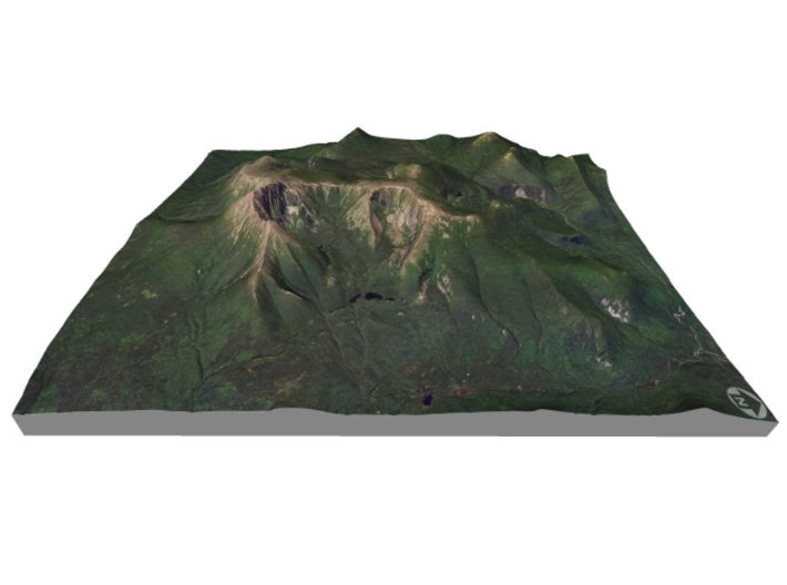 "Mount Katahdin Map: 8.5""x11"" 3d printed"