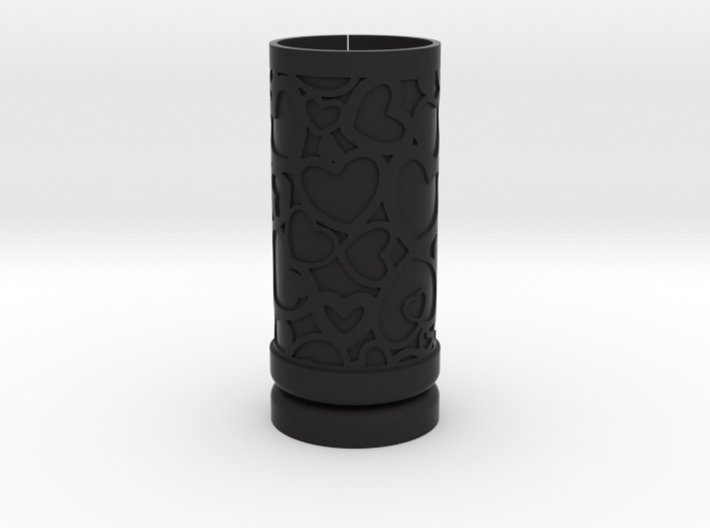 Solid Gift roll small with Hearts (6 cm) 3d printed