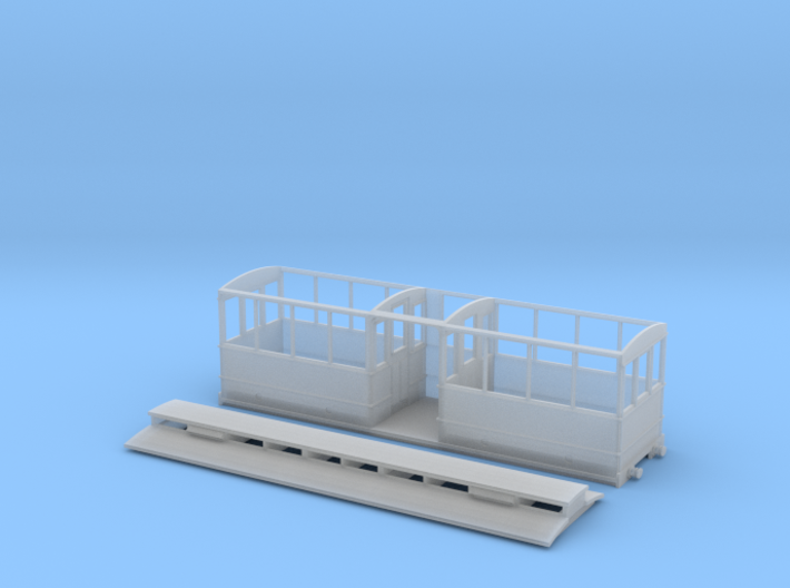 5.5mm Corris Rly clerestory saloon 3d printed