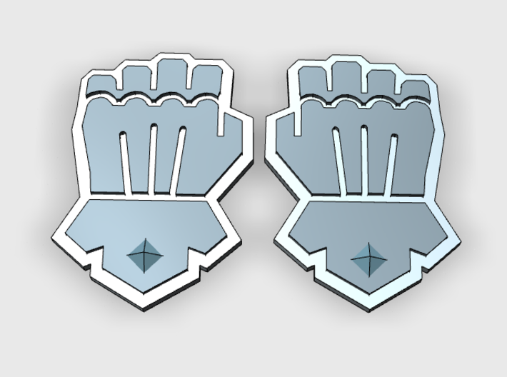 Clenched Fist : Vehicle Insignia pack 3d printed