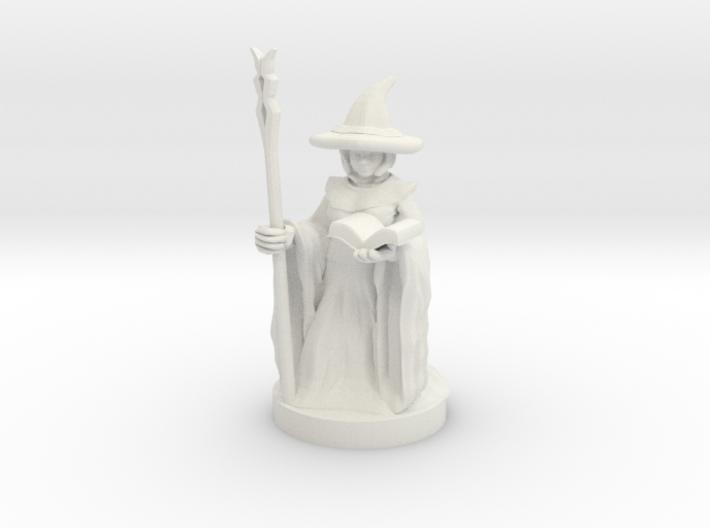 Gnome Female Wizard 3d printed