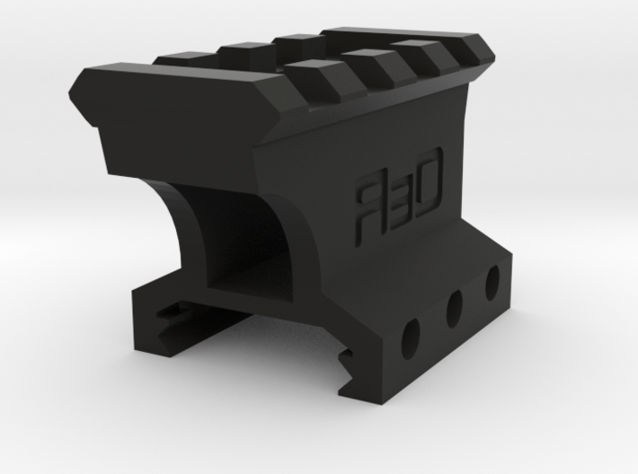 """1"""" High 3 to 4 Slots Picatinny Riser (Offset) 3d printed"""