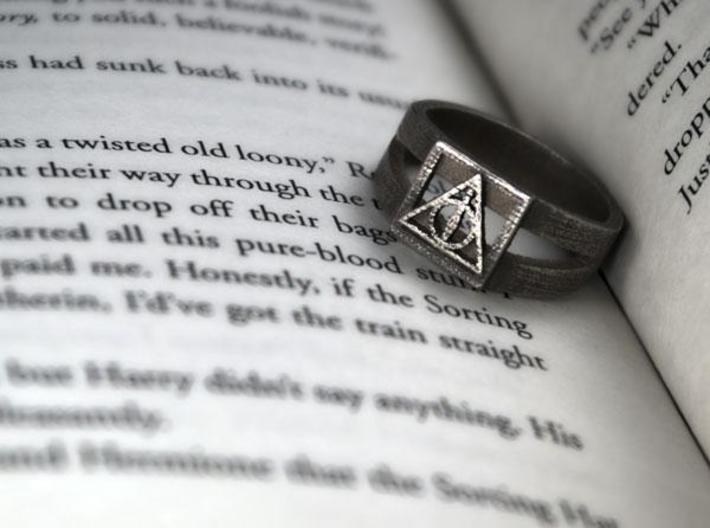 Deathly Hallows Ring Size 10 3d printed 2