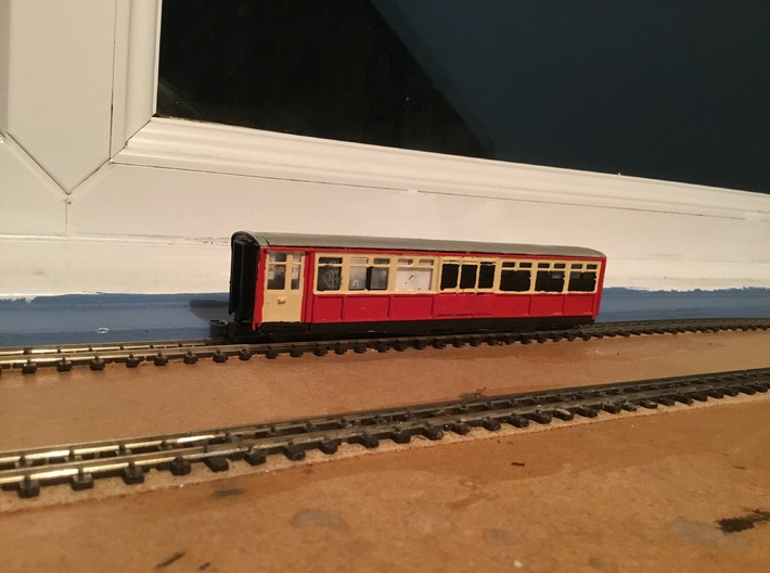 Ffestiniog Rly Superbarn Service coach NO.125 3d printed The finished product