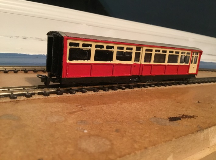 Ffestiniog Rly Superbarn Service coach NO.125 3d printed The finished product render 2