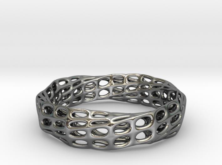 Mobius Band Voronoi Bracelet 65mm (003) 3d printed Mobius Band Voronoi Bracelet 65mm (003)