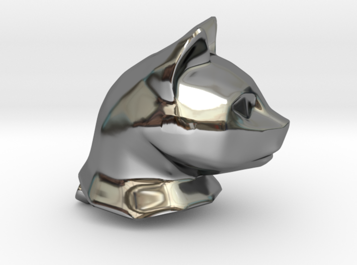 Cat Head Charm by Puybaret 3d printed Cat Head Charm by Puybaret