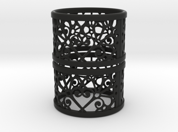 Set of 2 large napkin rings with Mosaic-3b 3d printed