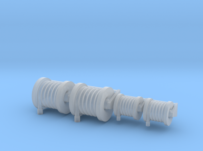 Hose Reel Large Fixed Simulated Hose 2 Sizes 1-87 3d printed