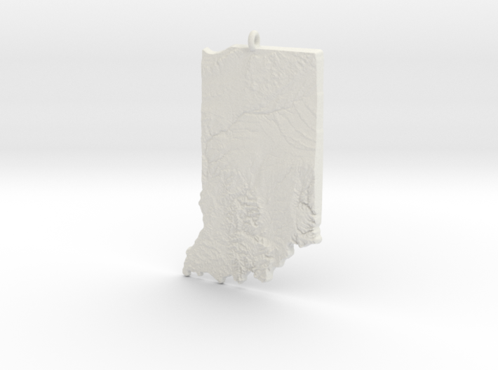 Indiana Christmas Ornament 3d printed