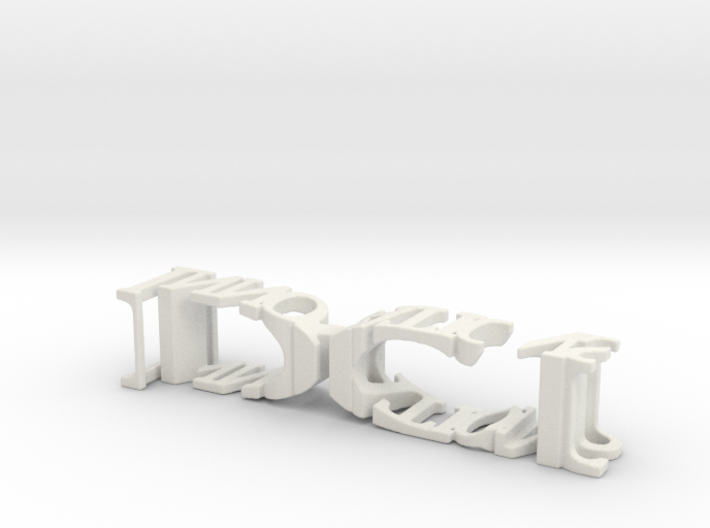 3dWordFlip: DCI/Innovations 3d printed
