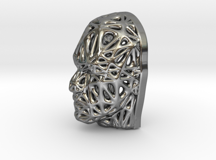 Miniature Male Voronoi Face 3d printed Miniature Male Voronoi Face
