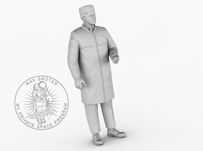 Early Cleanroom Worker 1:24 3d printed