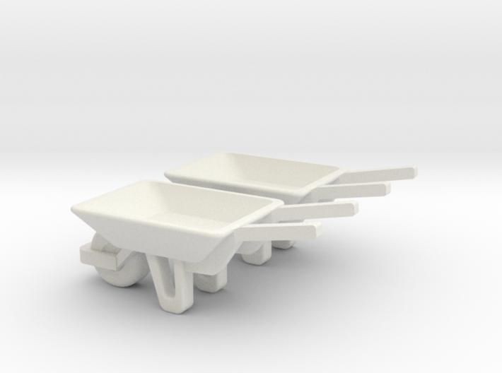 WheelBarrow 2 Pack O Scale 3d printed