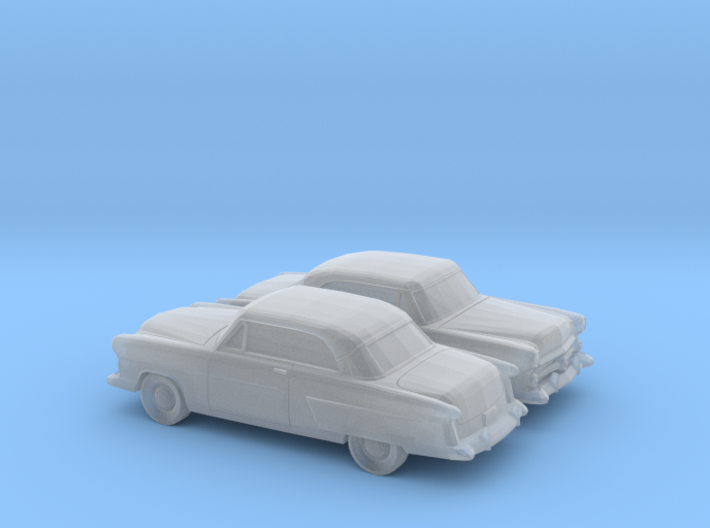 1/160 2X 1952 Ford Crestline Victoria Coupe 3d printed