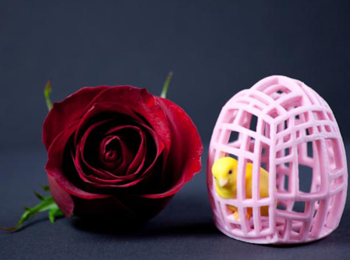 The Easter Chick - a - Dee (Light Pink) 3d printed About the size of a flower.