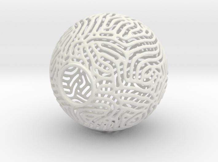 Reaction Diffusion Lamp Shade 3d printed