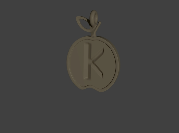 Pendant of the Golden Apple - Kappa 3d printed