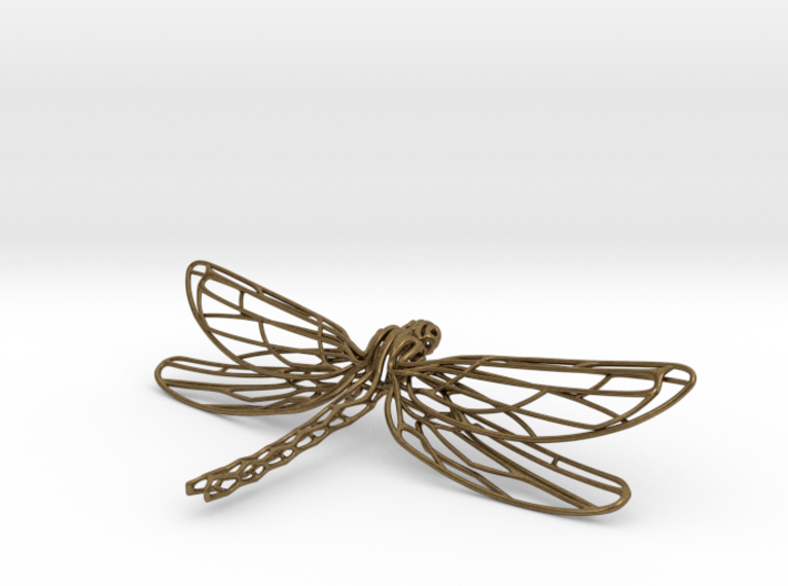 Dragonfly Necklace Odonata N° 1 3d printed