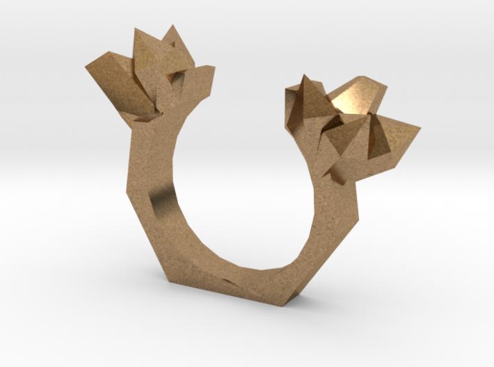 Crystal Split Ring 3d printed