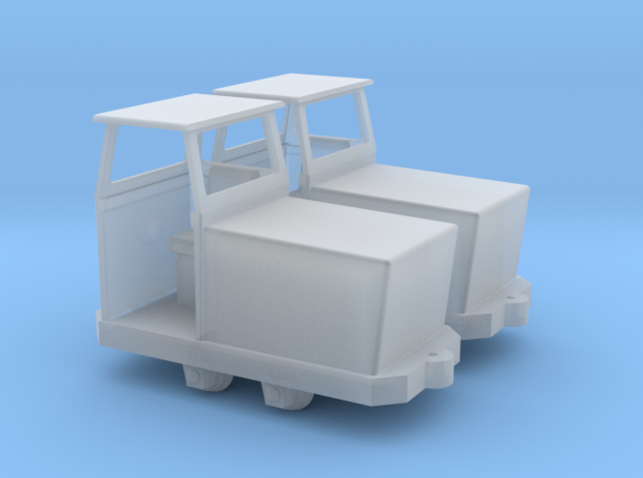 1/87th scale SD-9 locomotive (2 pieces) 3d printed