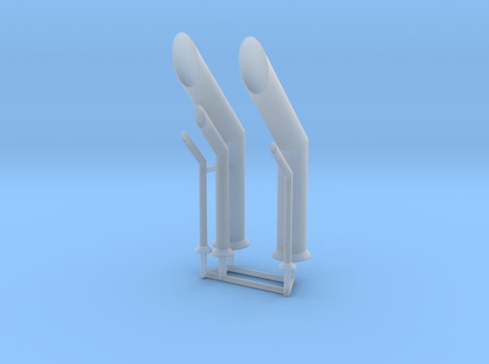 ASD 2810 - exhaust pipes 3d printed