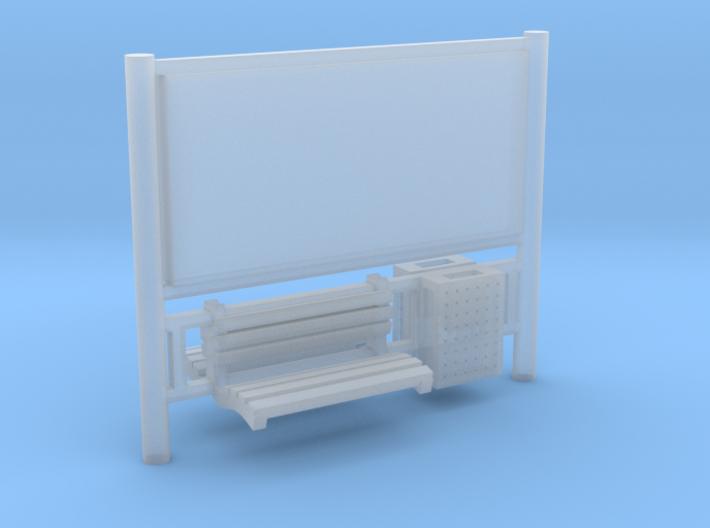 AFA JCDecaux Railboard 3d printed