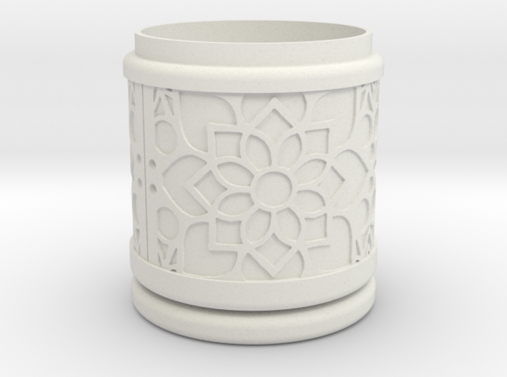 Gift Box round No. 1 with Mosaik-2 (solid, high) 3d printed