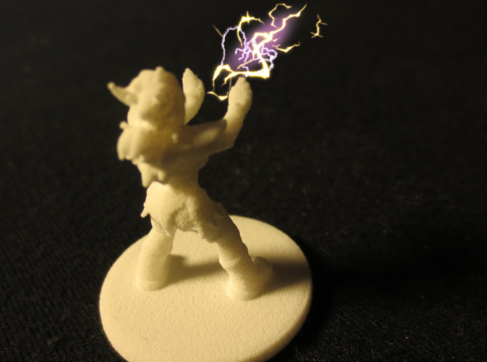 1:36 Helja, Dwarven Dracomancer 3d printed Does not actually cast magic