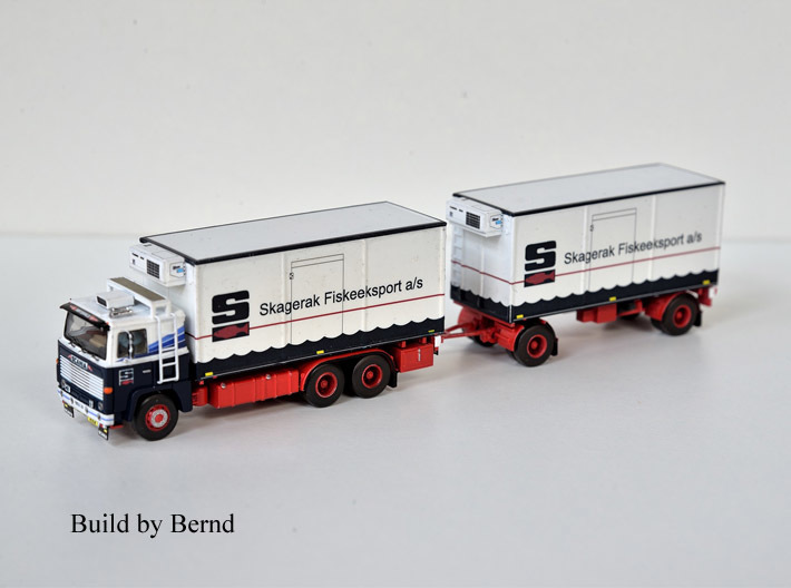 Scania 141 refrigerated lorry 1:120 scale 3d printed a version made by one of my customers