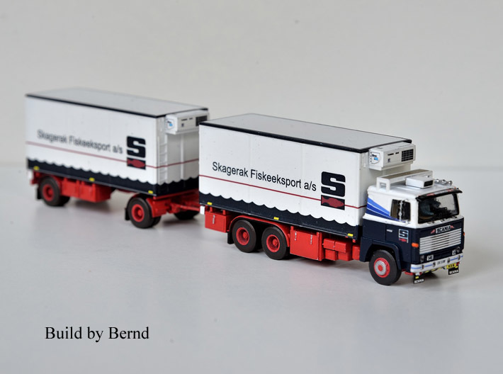 Scania 141 refrigerated lorry 1:160 scale 3d printed A beautiful version made by one of my customers.