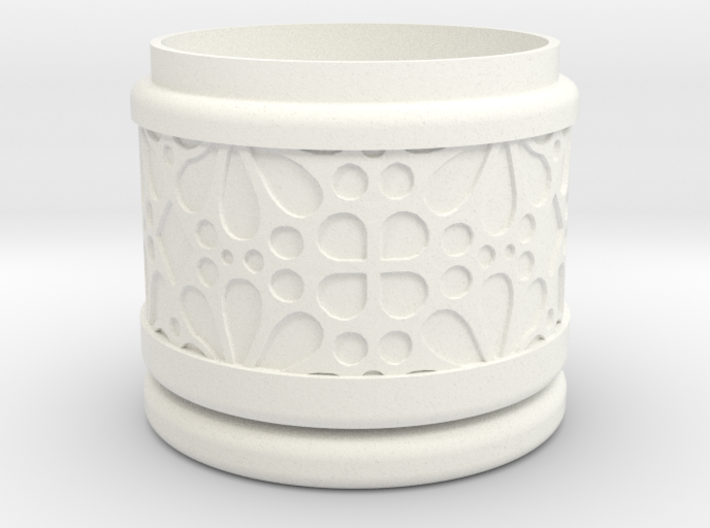 Gift Box No.1 with Mosaic-3 (solid-filigree short) 3d printed