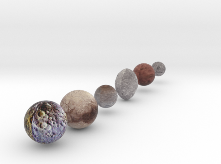 Dwarf Planet Alternate sizing with Charon 3d printed
