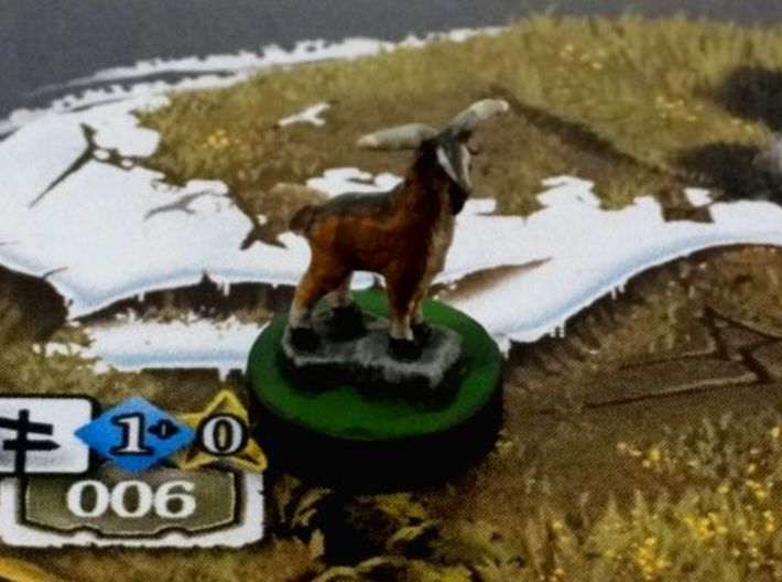 Little Brumpy 3d printed On a 7th Continent print and play card