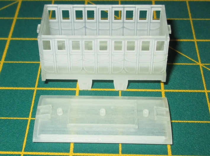 N Gauge L&MR 1st Coach (Motorised) 3d printed N Gauge L&MR Coach (motorised) cleaned but unpainted.