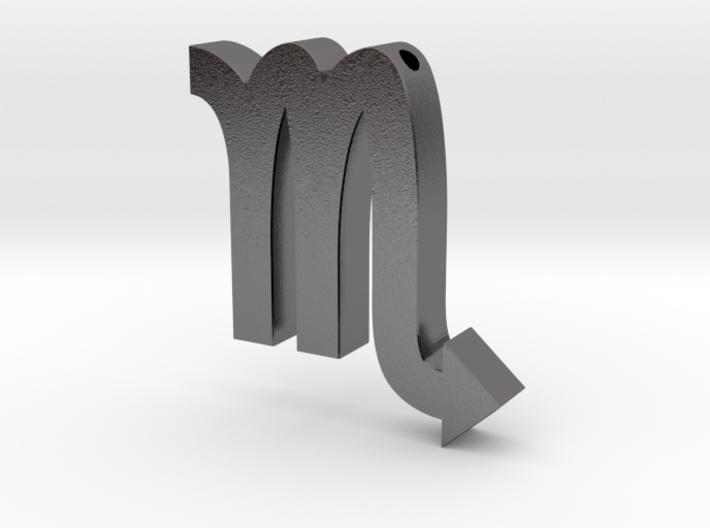 Scorpio Symbol Pendant 3d printed