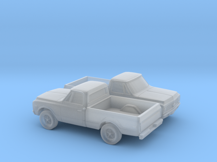 1/160 2X 1970-72 Chevy CK Series Short Bed 3d printed