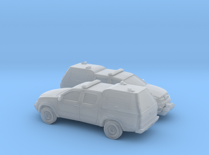 1/200 2X 2005-15 Toyota Hilux Royal Airforce Mount 3d printed