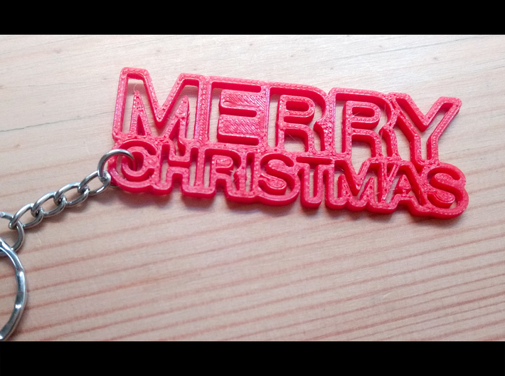 Merry Chritmas Keyring 3d printed