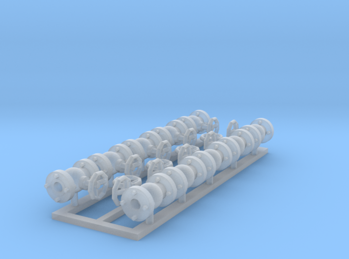 valves 1-2mm 10pc complete, extra handwheels 3d printed
