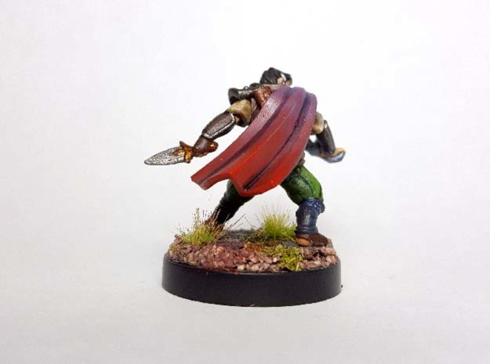 Halfling Arcane Trickster (Modular) 3d printed Painted with acrylic paints and mounted on a  custom 1 inch base.